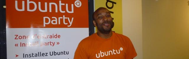 Photo de Frédéric Mandé, alias Quesh, membre du conseil d'administration de l'association Ubuntu-fr. Crédit photo B.Brochenin