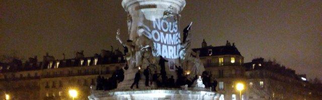 Nous Sommes Charlie, place de la République, 7 janvier 2015