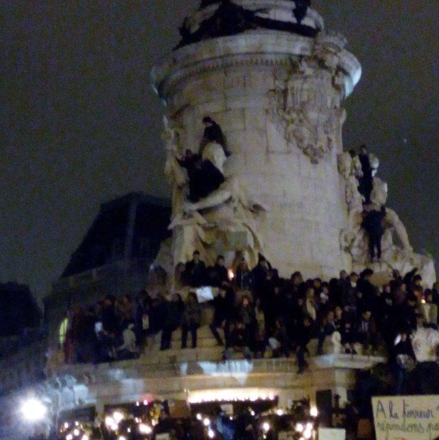 On est tous là, Place de la République, 7 janvier 2015, Paris