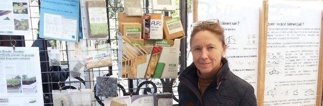Régina Mathiszig, architecte et baubiologue, membre de la Coopérative d'Activités et d'Emploi Alter-Bâtir
